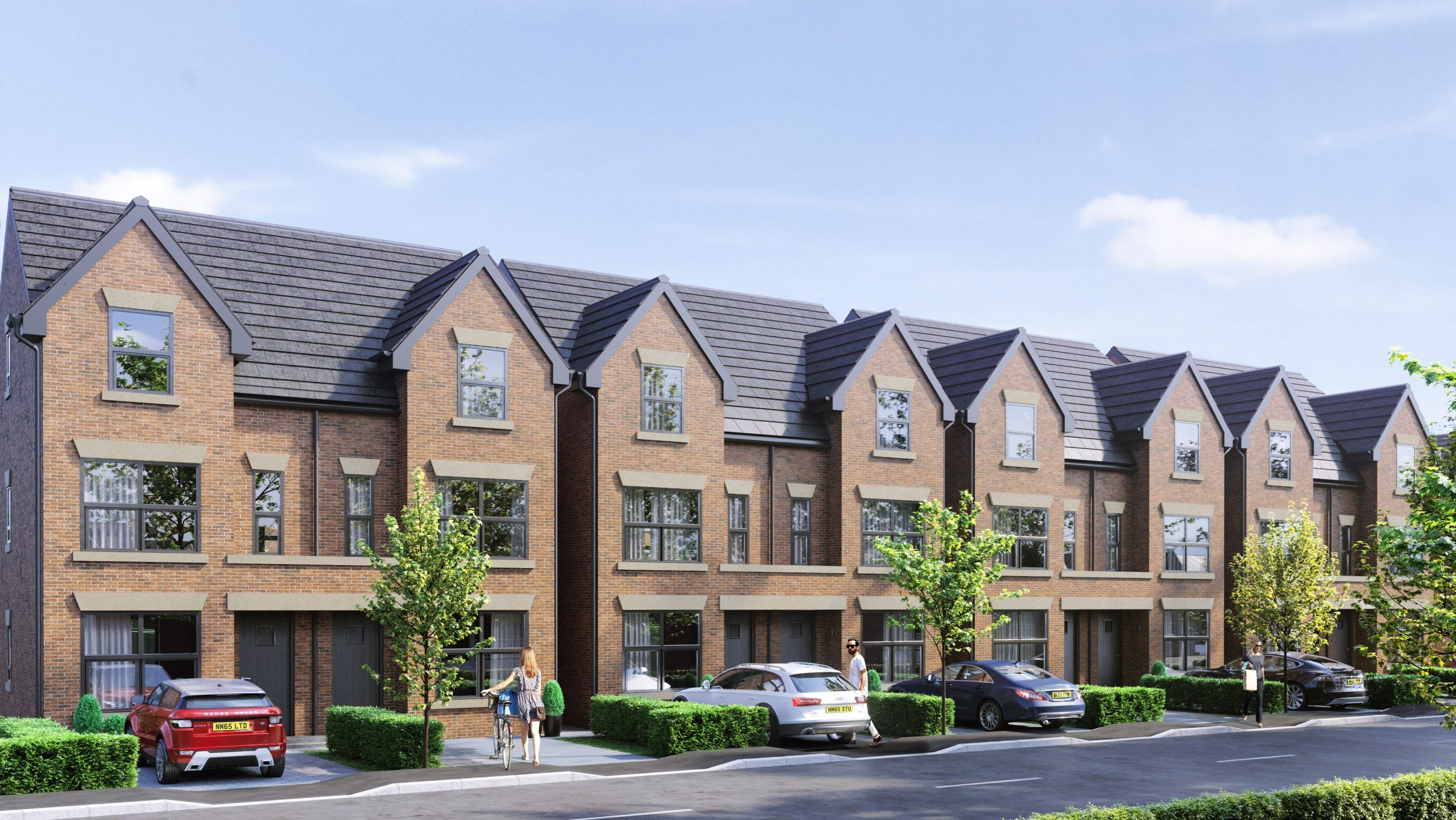 hall and co - property development visualisations - monton manchester