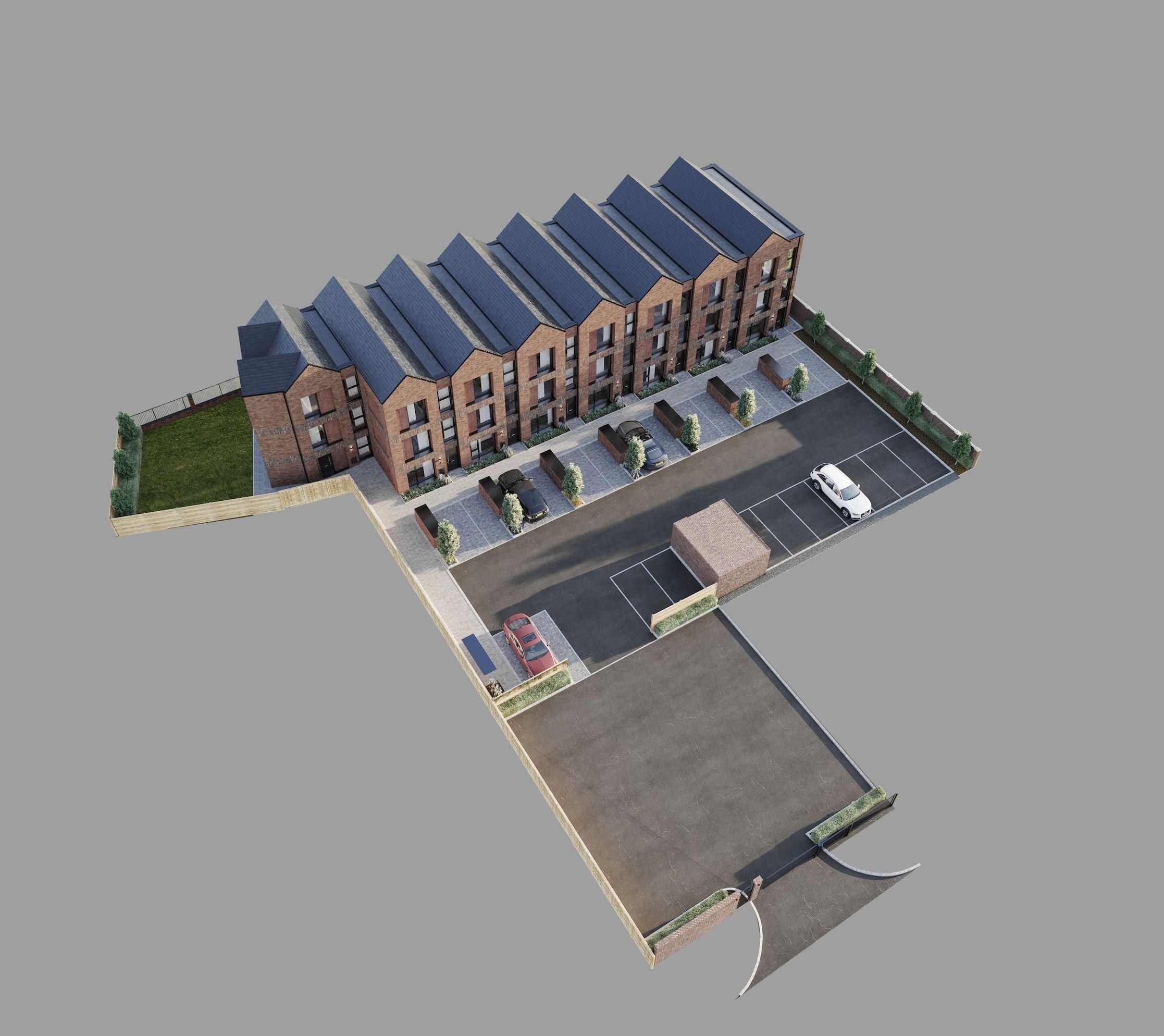 maya 3d aerial site plan cgi visual