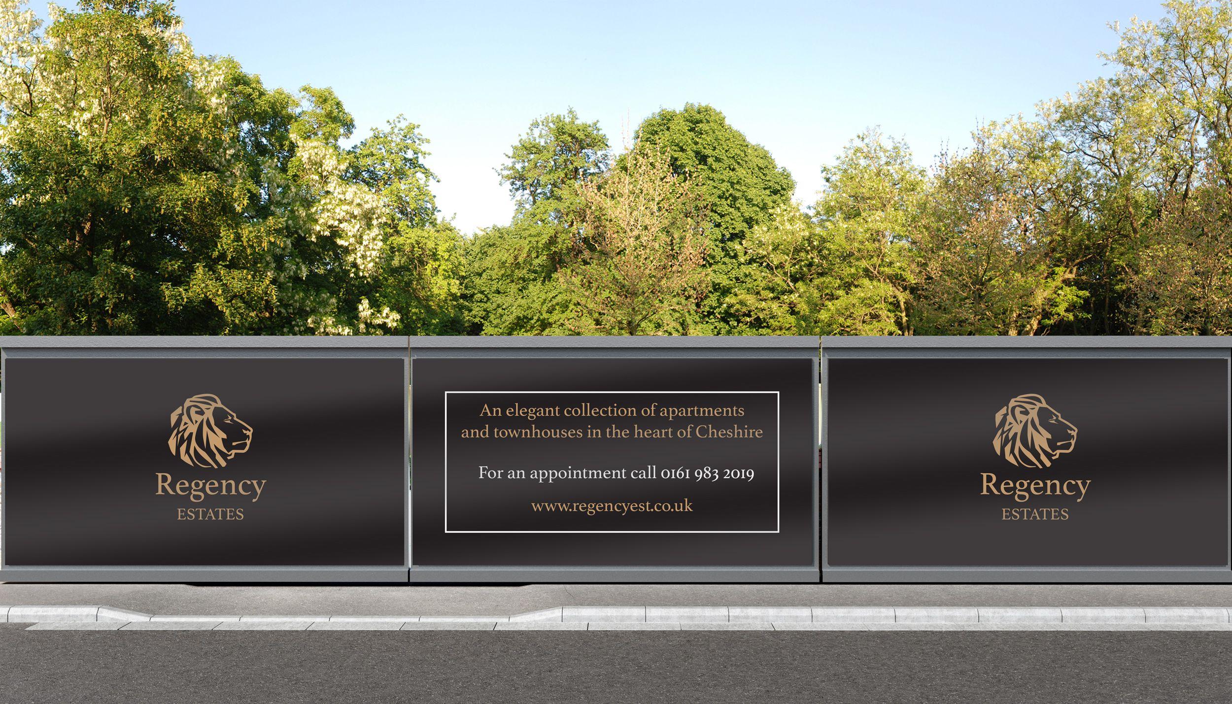 property marketing hoarding site signage manchester